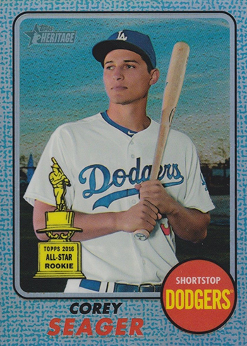 2017 Topps Heritage Chrome Blue Corey Seager