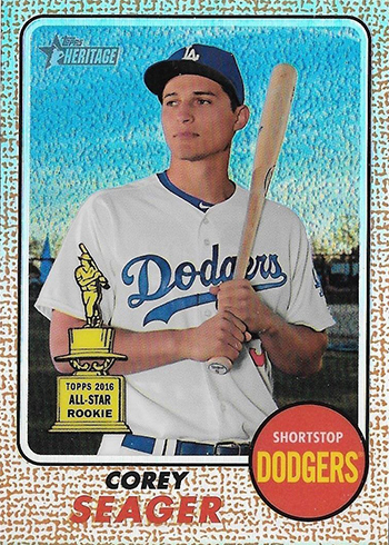 2017 Topps Heritage Chrome Refractor Corey Seager