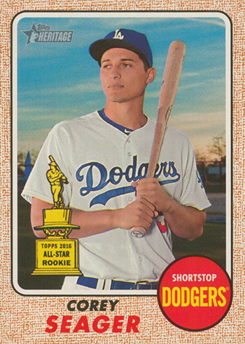 2017 Topps Heritage Gray back Corey Seager Front