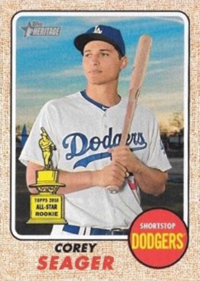 2017 Topps Heritage Mini Corey Seager Front