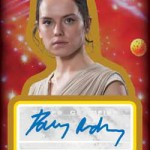 2017 Topps Journey to Star Wars the Last Jedi Autographs Red