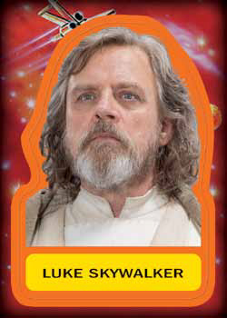 2017 Topps Journey to Star Wars the Last Jedi Sticker