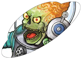 2017 Topps Mars Attacks The Revenge Shaped Sketch Card