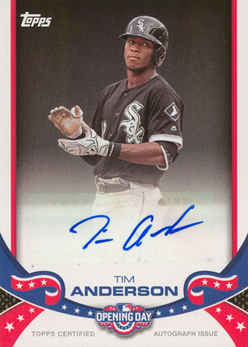 2017 Topps Opening Day Signatures Tim Anderson