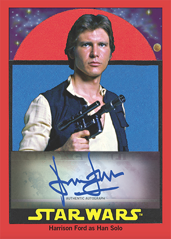 2017 Topps Star Wars Sugar-Free Gum Autographs Harrison Ford