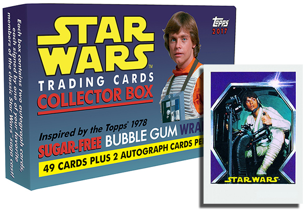 2017 Topps Star Wars Sugar-Free Gum Box Header