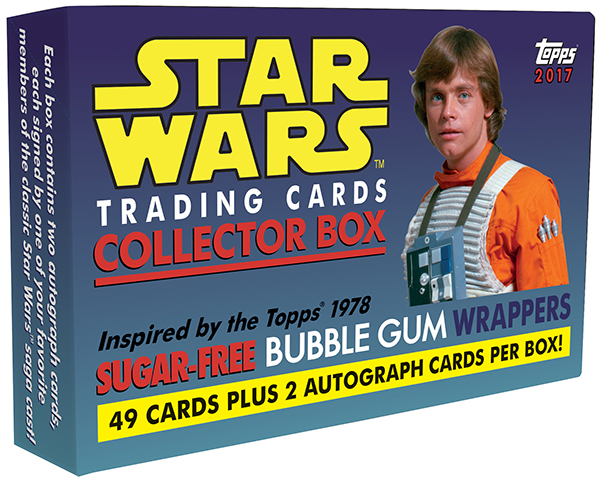 2017 Topps Star Wars Sugar-Free Gum Box