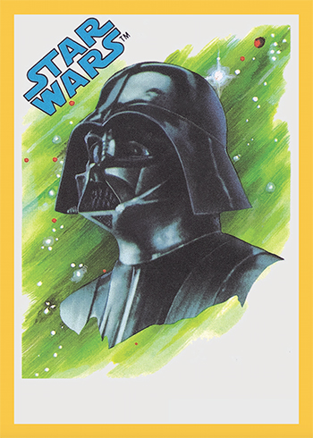 2017 Topps Star Wars Sugar-Free Gum Darth Vader