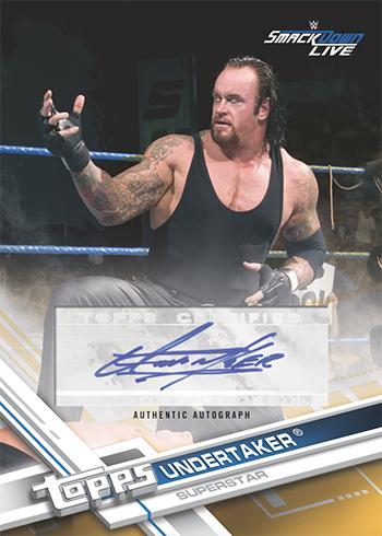 2017 Topps WWE Autographs Undertaker
