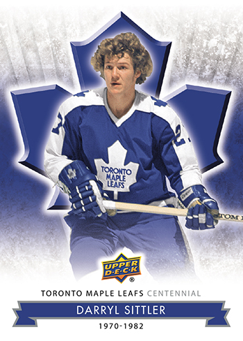 2017 Upper Deck Toronto Maple Leafs Centennial Base Darryl Sittler