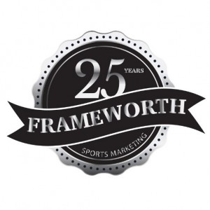 Frameworth 25th logo