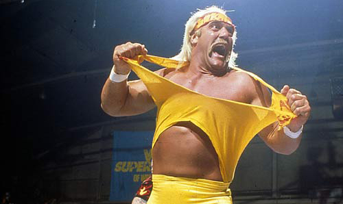 Hulk Hogan Tearing Shirt