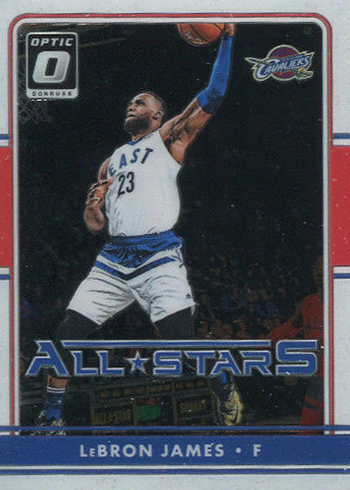 2016-17 Donruss Optic Basketball All-Stars LeBron James