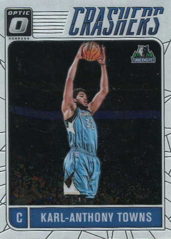 2016-17 Donruss Optic Basketball Crashers Karl-Anthony Towns