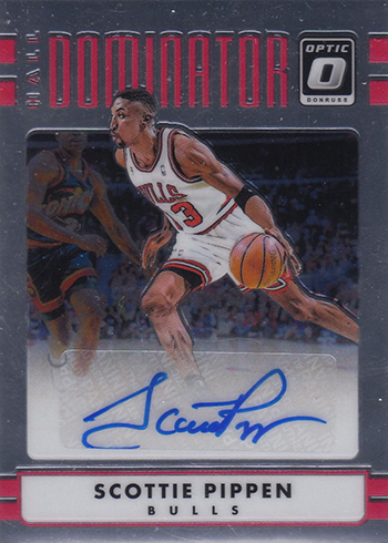 2016-17 Donruss Optic Basketball Hall Dominators Signatures Scottie Pippen