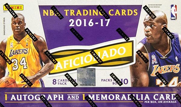 2016-17 Panini Aficionado Basketball Hobby Box