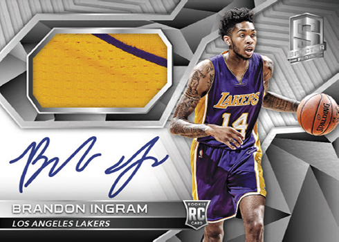 2016-17 Panini Spectra Basketball Rookie Patch Autograph Brandon Ingram