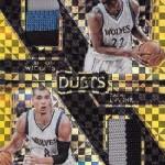 2016-17 Select Basketball Dual Jersey Prime Timberwolves