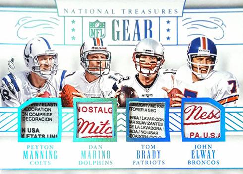 2016 National Treasures NFL Gear Tag Manning Marino Brady Elwayb