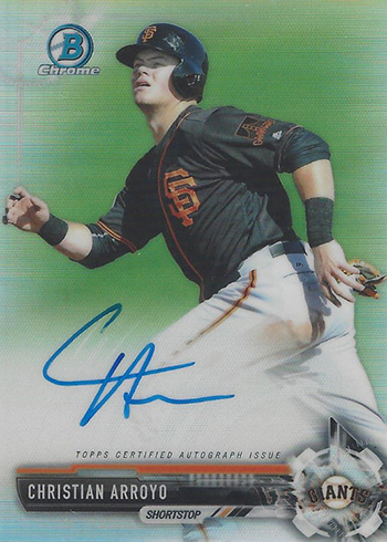 2017 Bowman Chrome Prospect Autographs Refractor Christian Arroyo