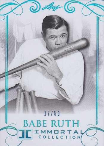 2017 Leaf Babe Ruth Immortal Collection Base