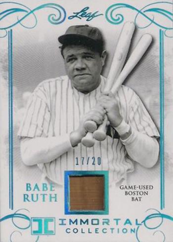 2017 Leaf Babe Ruth Immortal Collection Boston Bat