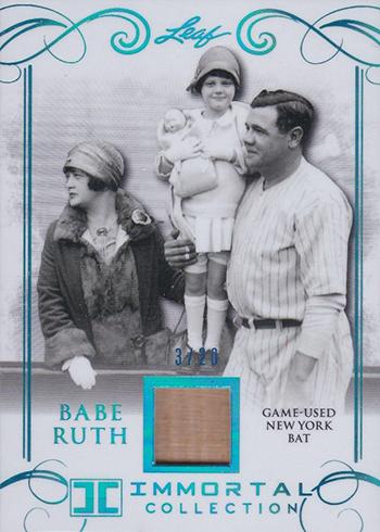 2017 Leaf Babe Ruth Immortal Collection New York Bat B