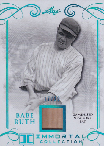 2017 Leaf Babe Ruth Immortal Collection New York Bat