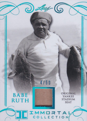 2017 Leaf Babe Ruth Immortal Collection Yankee Stadium Seat