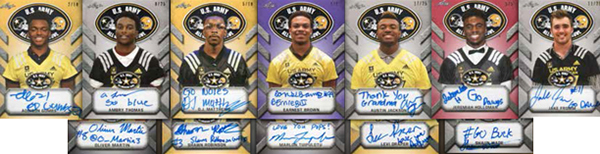 2017 Leaf Metal US Army All-American Football Selection Tour