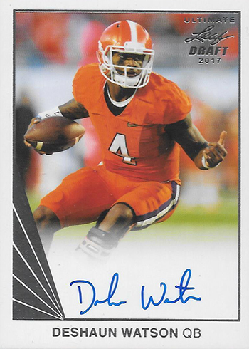 2017 Leaf Ultimate Football 1990 Auotgraphs Deshaun Watson