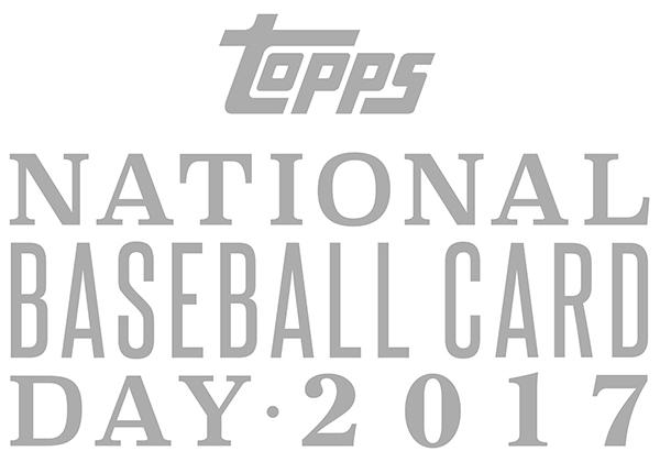 2017 National Baseball Card Day Logo