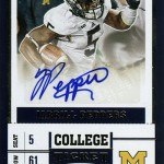 2017 Panini Contenders Draft Football College Ticket Autographs Jabril Peppers