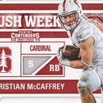 2017 Panini Contenders Draft Football Rush Week Christian McCaffrey