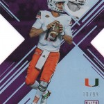 2017 Panini Elite Draft Picks Football Purple Brad Kaaya
