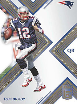 2017 Panini Elite Football Base Status Die Cut feature