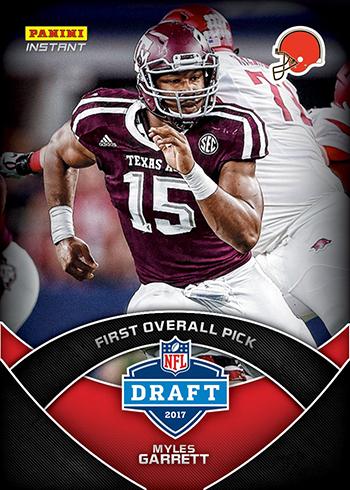 2017 Panini Instant NFL Draft 1 Myles Garrett