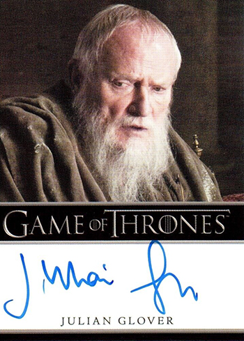 2017 Rittenhouse Game of Thrones Season 6 Autograph Bordered Julian Glover