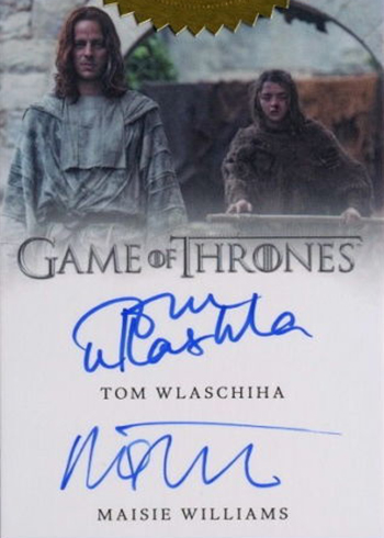 2017 Rittenhouse Game of Thrones Season 6 Dual Autograph Tom Wlaschiha Maisie Williams