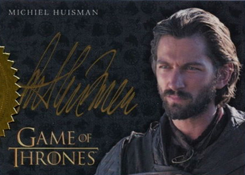 2017 Rittenhouse Game of Thrones Season 6 Gold Autograph Michael Huisman