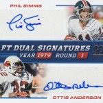 2017 Score Football Draft Dual Signatures Phil Simms Ottis Anderson