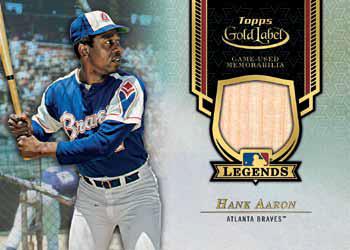 2017 Topps Gold Label Baseball Legends Relic