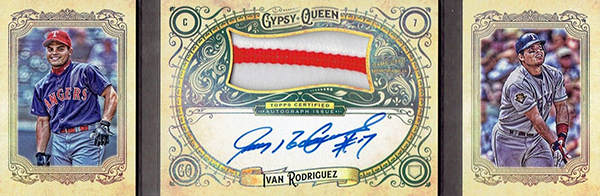2017 Topps Gypsy Queen Auto Patch Book Ivan Rodriguez