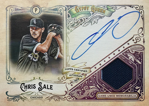 2017 Topps Gypsy Queen Auto Patch Chris Sale