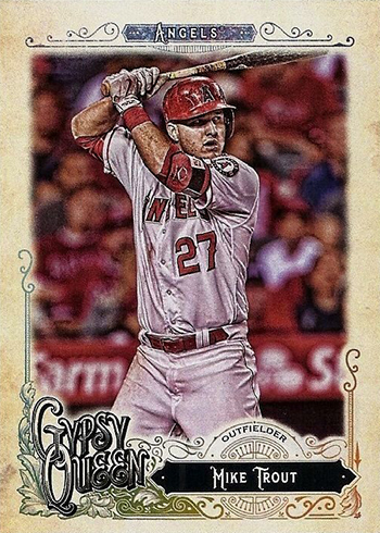 2017 Topps Gypsy Queen Fortune Teller Mini #FT-MT Mike Trout Los Angeles Angels Baseball Card