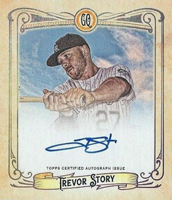 2017 Topps Gypsy Queen Chewing Gum Autograph Trevor Story
