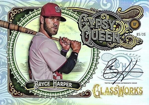 2017 Topps Gypsy Queen Glassworks Autograph Bryce Harper