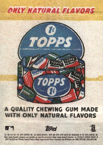 2017 Topps Gypsy Queen Gum Ad Content Back Variation