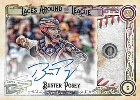 2017 Topps Gypsy Queen Laces Around the League Buster Posey