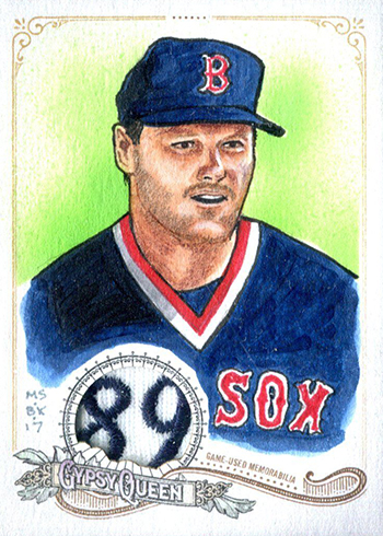 2017 Topps Gypsy Queen Original Portrait Art Patch Roger Clemens